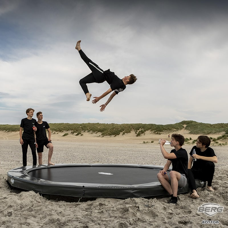 Berg Elite Inground 430 avec tapis de saut Airflow - Atelier Botton